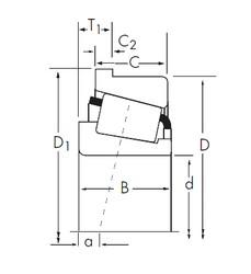 Timken 758/752-B tapered roller bearings