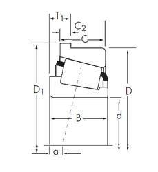 Timken 45285A/45220-B tapered roller bearings