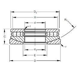 Timken 140TPS160 thrust roller bearings