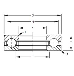 Timken 120TVB511 thrust ball bearings