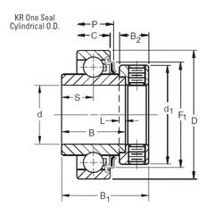Timken 1012KR deep groove ball bearings