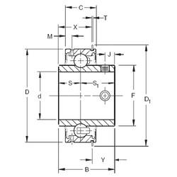 Timken ER35 deep groove ball bearings