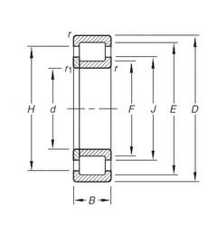 Timken NUP2207E.TVP cylindrical roller bearings