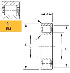 Timken 40RIJ133 cylindrical roller bearings