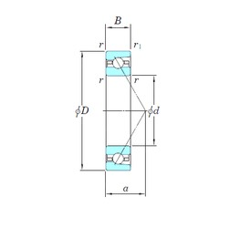 KOYO HAR019 angular contact ball bearings