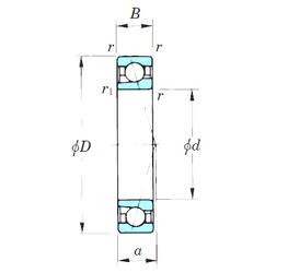 KOYO 7004CPA angular contact ball bearings