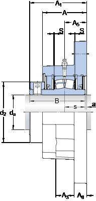 SKF FYR 2 11/16-3 bearing units