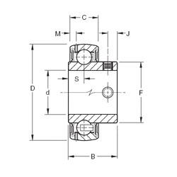 Timken GYA106RRB deep groove ball bearings