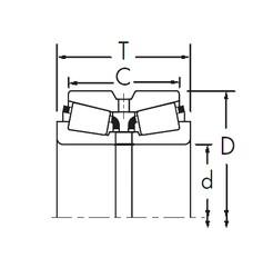 Timken 460/452D tapered roller bearings