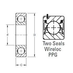 Timken W308PPG deep groove ball bearings