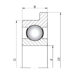 ISO FL619/2 deep groove ball bearings