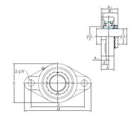 KOYO UKFL313 bearing units