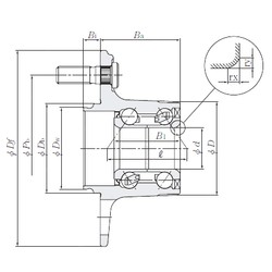 NTN HUB112-14 angular contact ball bearings