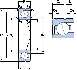SKF 71915 CE/P4AL angular contact ball bearings