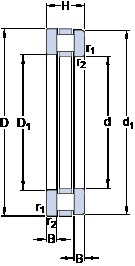 SKF 81105 TN thrust roller bearings