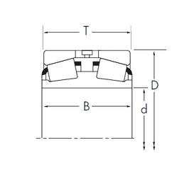 Timken 71426D/71750 tapered roller bearings