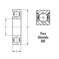 Timken 219WDD deep groove ball bearings