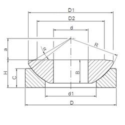 ISO GW 045 plain bearings