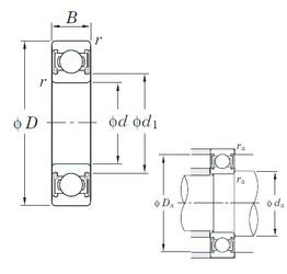 KOYO 6208 2RD C3 deep groove ball bearings