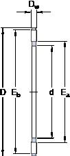 SKF AXK 1226 thrust roller bearings