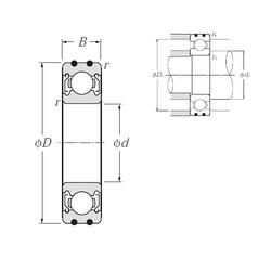 NTN AC-6301ZZ deep groove ball bearings