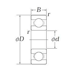 KOYO OB72 deep groove ball bearings