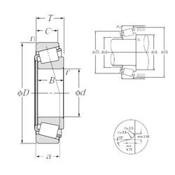NTN 4T-L68149/L68111 tapered roller bearings