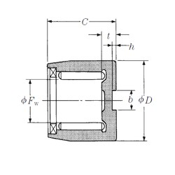 NSK NSA04803 needle roller bearings