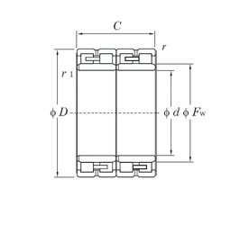KOYO 60FC42300W cylindrical roller bearings