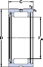 SKF RNA 4907 RS cylindrical roller bearings