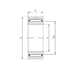 ISO NA5904 needle roller bearings