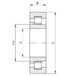 ISO NJ317 cylindrical roller bearings