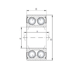 ISO 3804 ZZ angular contact ball bearings