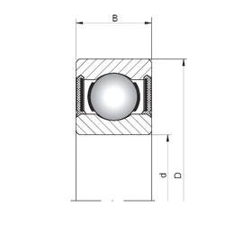 ISO 603-2RS deep groove ball bearings