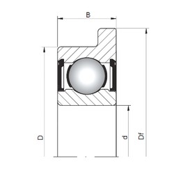 ISO FL603 ZZ deep groove ball bearings