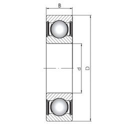 ISO 6020-2RS deep groove ball bearings