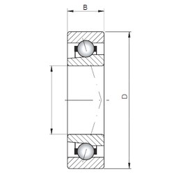 ISO 71809 C angular contact ball bearings