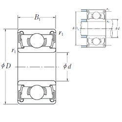 NSK 688 A DD deep groove ball bearings