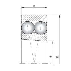 ISO 1308K self aligning ball bearings