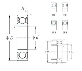 KOYO 6909-2RS deep groove ball bearings