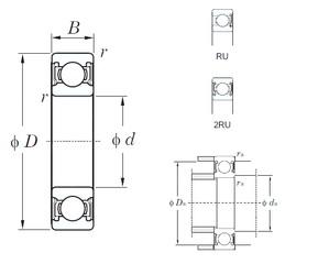 KOYO 6901-2RU deep groove ball bearings