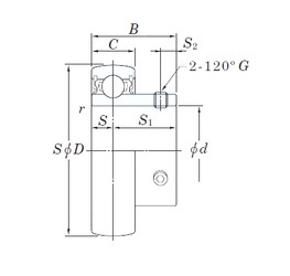 KOYO SU002 deep groove ball bearings