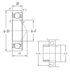 KOYO 7000C angular contact ball bearings