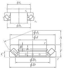 KOYO 29436R thrust roller bearings