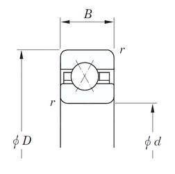 KOYO KCX050 angular contact ball bearings