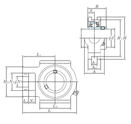 KOYO UCT206 bearing units