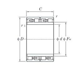 KOYO 313837-1 cylindrical roller bearings
