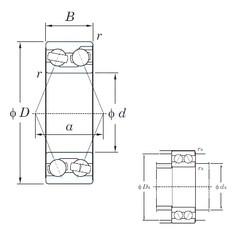 KOYO 3200 angular contact ball bearings