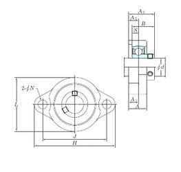 KOYO BLF207-22 bearing units