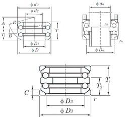 KOYO 54208U thrust ball bearings